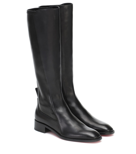 Christian Louboutin Tagastretch leather knee-high boots in black