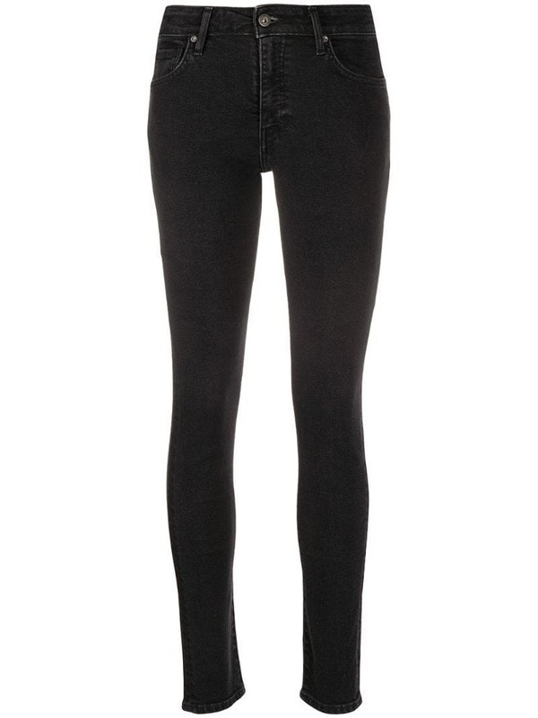 Levi's: Made & Crafted 721 slim-fit jeans in black