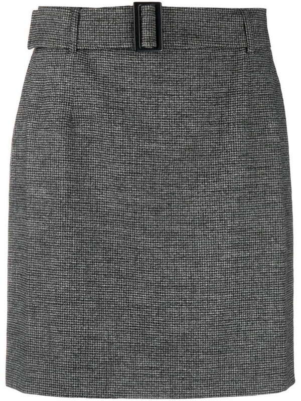 12 STOREEZ belted mini skirt in grey