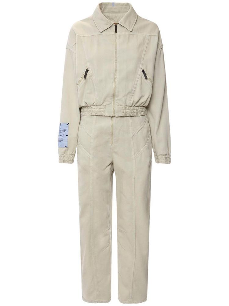 MCQ Fantasma Cotton  Blend Jumpsuit in ecru