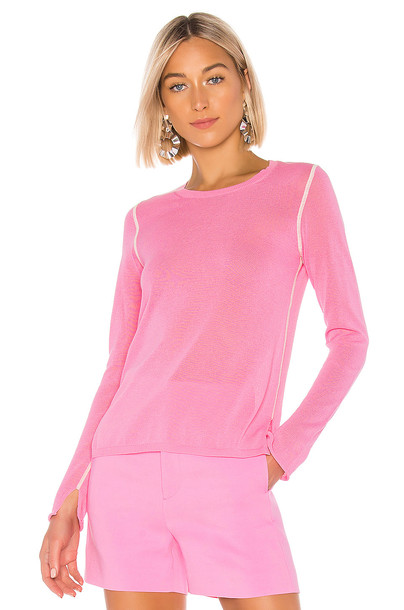 Joseph Long Sleeve Sweater in pink