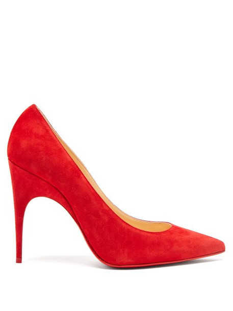 Christian Louboutin - Alminette 100 Suede Pumps - Womens - Red