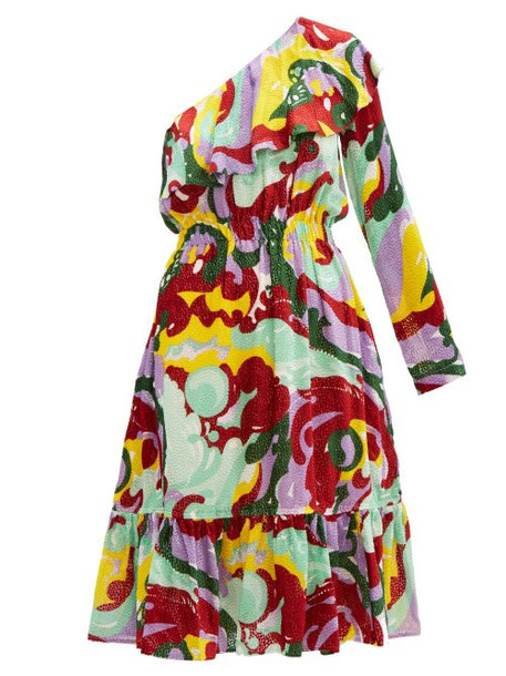 La Doublej - Boogie Meraviglia Print Devoré Dress - Womens - Multi