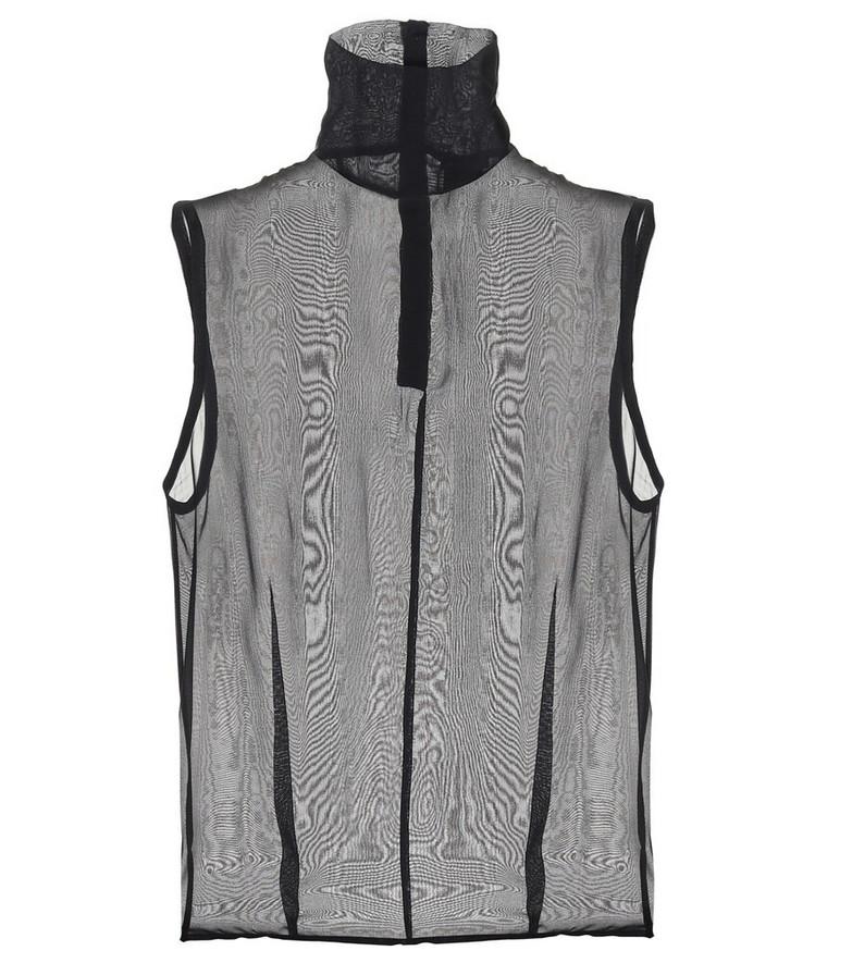 Ann Demeulemeester Sheer silk top in black
