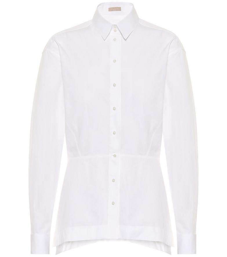 Alaïa Cotton shirt in white