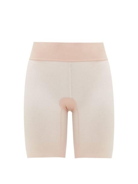 Wolford - Sheer Touch Mesh Shapewear Shorts - Womens - Pink