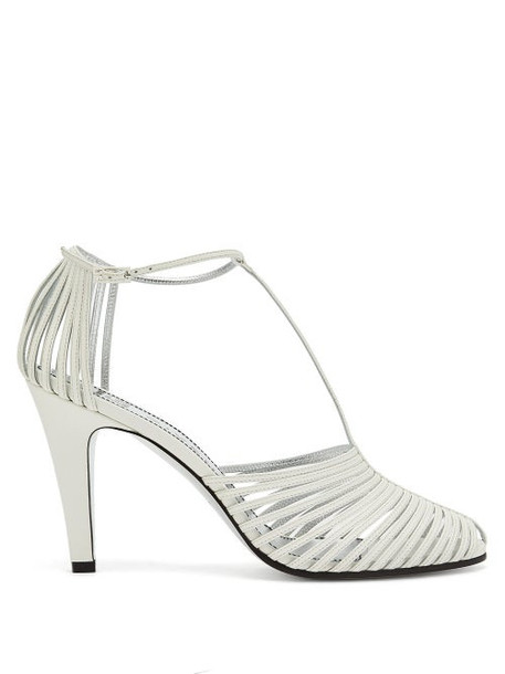 Givenchy - Cage-effect Leather Sandals - Womens - White