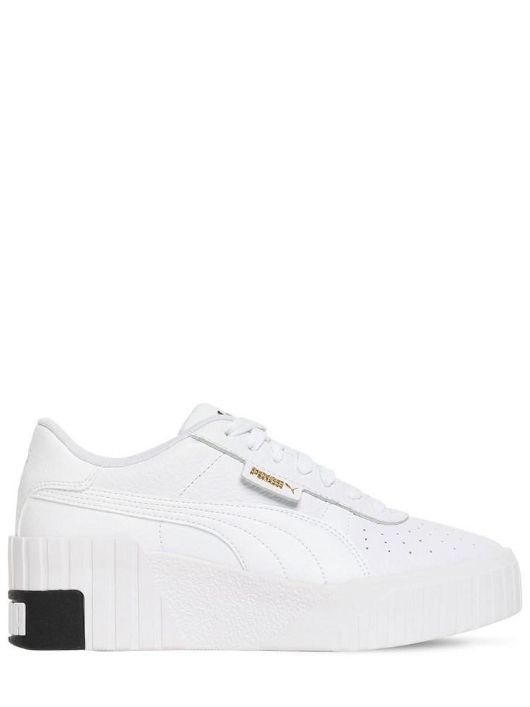 PUMA SELECT Cali Wedge Sneakers in white