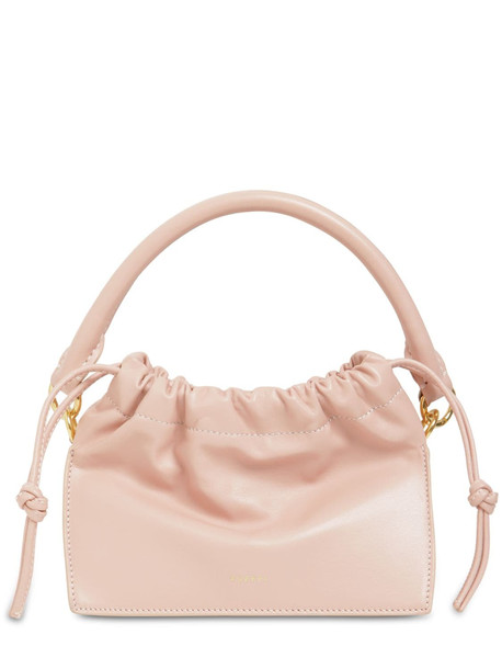 YUZEFI Mini Bom Leather Top Handle Bag in blush