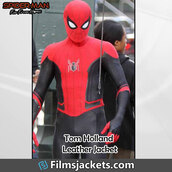 coat,movie,spider man far from home,celebrity,tom holland,spider man,leather jacket,jacket,fashion,style,outfit,menswear,lifestyle,men's outfit