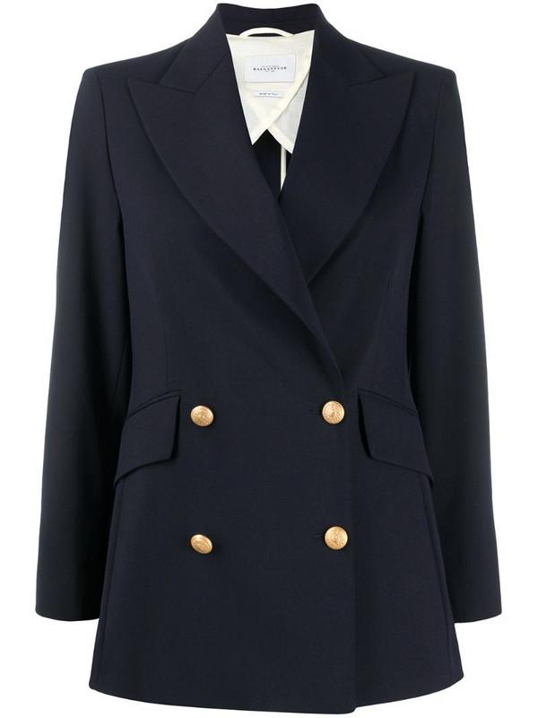 Ballantyne double breasted blazer in blue