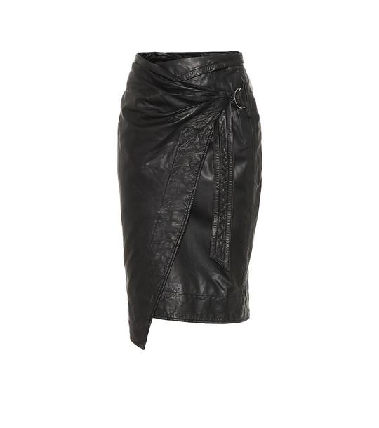 Isabel Marant, Étoile Ayeni leather skirt in black