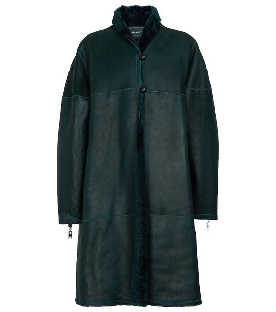 Isabel Marant Abazoe reversible shearling coat in green