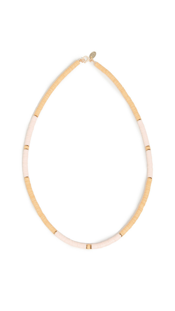 Maison Monik Vinyl Bead Necklace in orange
