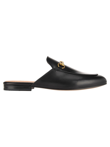 Gucci Princetown Leather Slipper in black