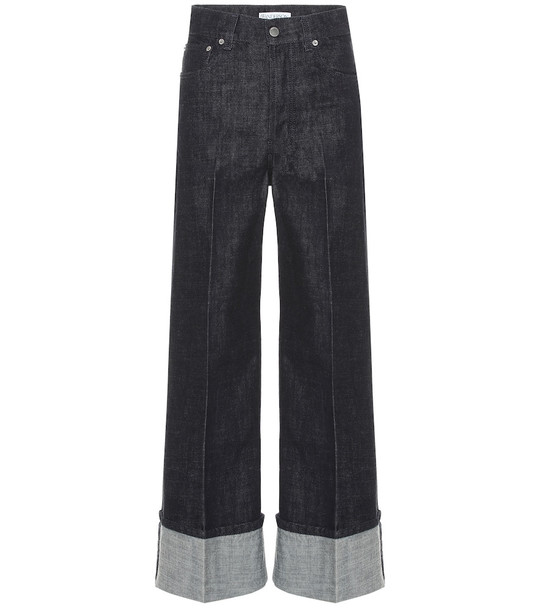 JW Anderson High-rise wide-leg jeans in blue