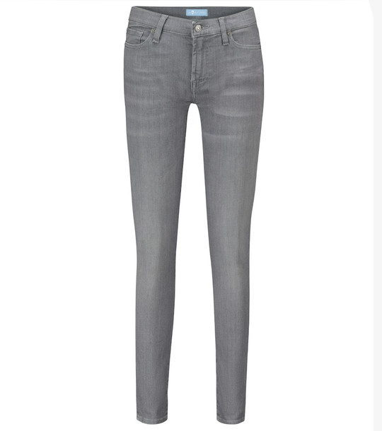 7 For All Mankind The Skinny B(air) mid-rise jeans in grey
