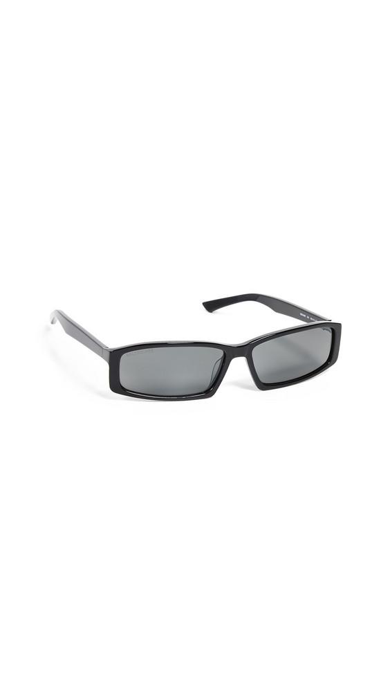 Balenciaga Neo Straight Sunglasses in black / grey