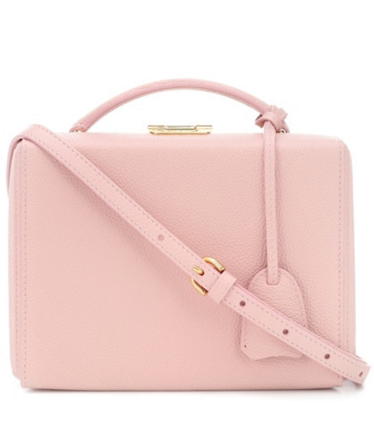 Mark Cross Grace Box Small leather shoulder bag in pink