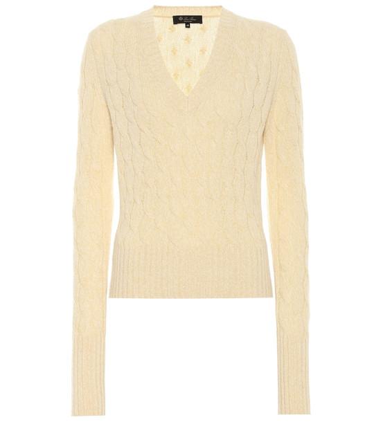 Loro Piana Randwick cashmere-blend sweater in yellow