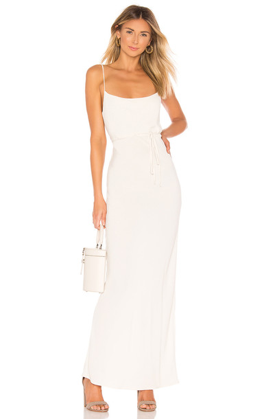 FLYNN SKYE Jackie Slip Dress in white