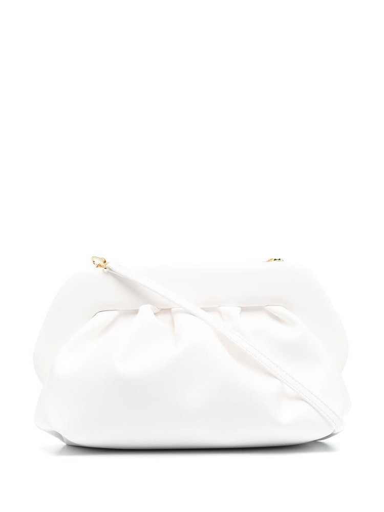 Themoirè Themoirè gathered leather clutch bag - White