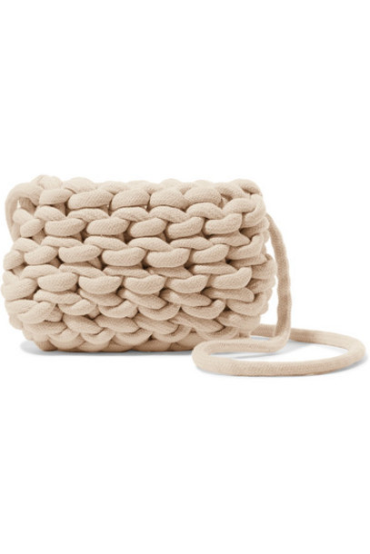Alienina Kids - Woven Cotton Shoulder Bag - Cream