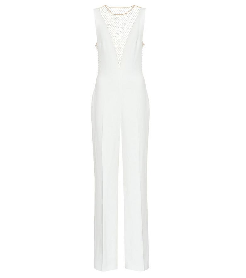 Stella McCartney Embellished crêpe jumpsuit in white