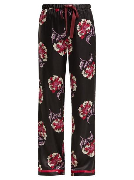 Morgan Lane - Chantal Floral Print Pyjama Trousers - Womens - Black Pink