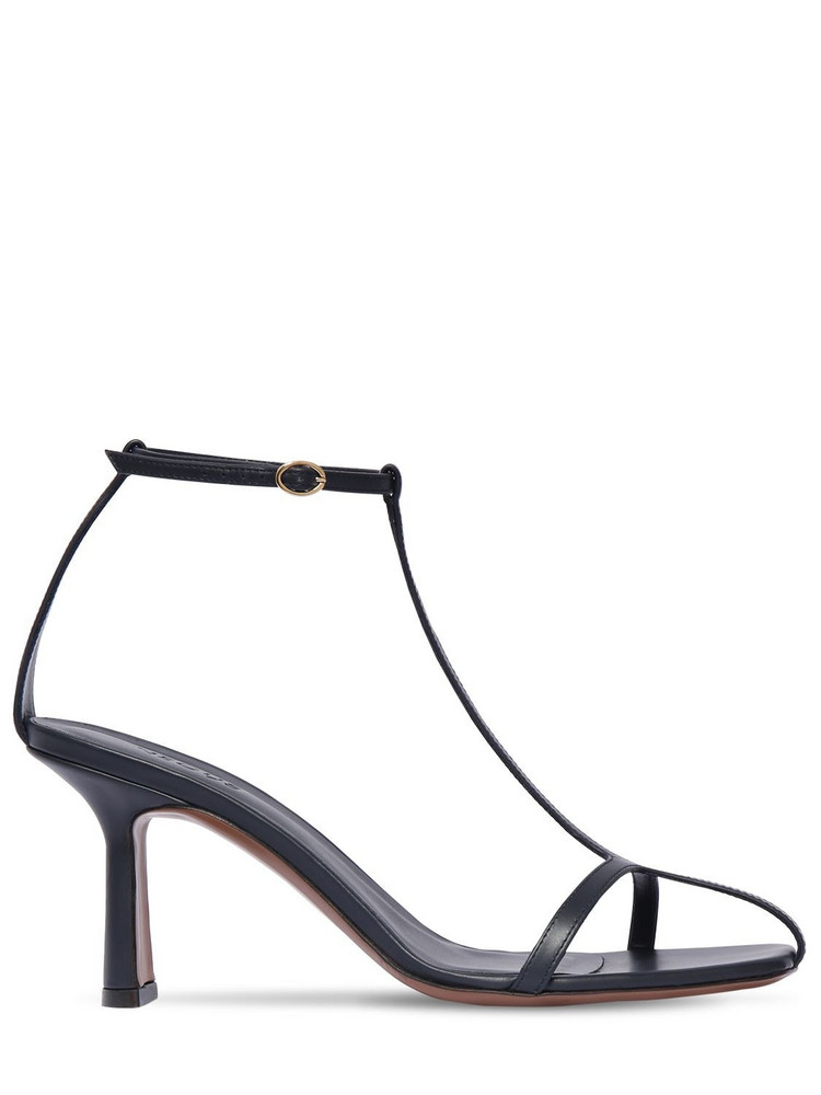 NEOUS 80mm Leather Sandals in navy