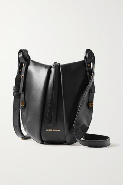 Isabel Marant - Okaya Leather Shoulder Bag - Black