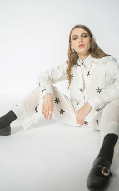 Alix of Bohemia Kiki Cotton-Voile Blouse in white