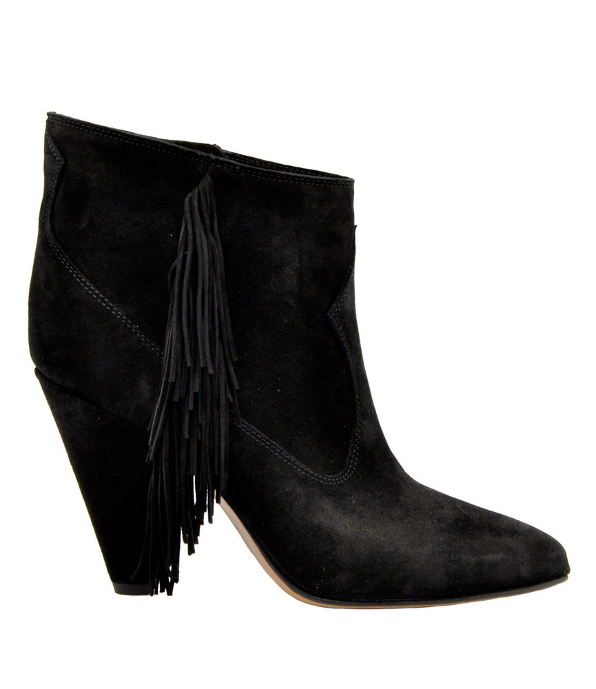 Buttero Zipped Ankle Boots in nero