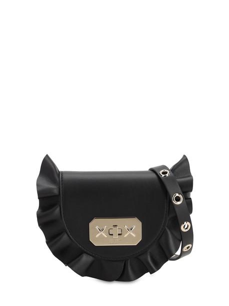 RED VALENTINO Audrey Leather Shoulder Bag in black