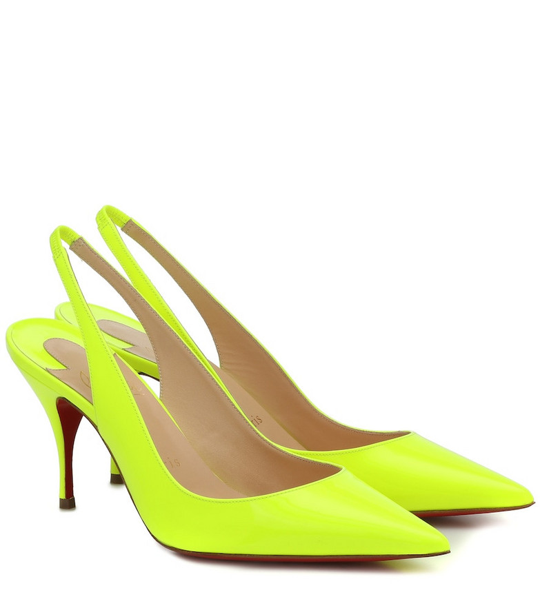 Christian Louboutin Clare Sling 80 leather pumps in yellow