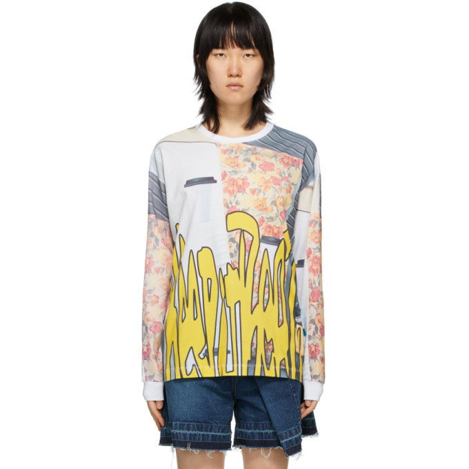 Perks and Mini Multicolor Oversized Go To Real Life Long Sleeve T-Shirt in multi
