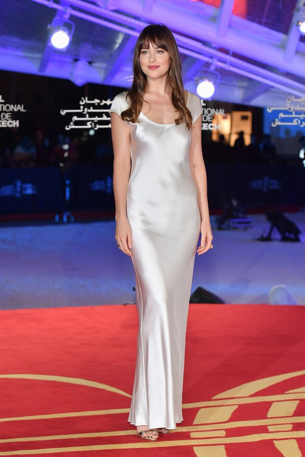 dress silk silk dress dakota johnson celebrity gown prom dress wedding dress red carpet dress