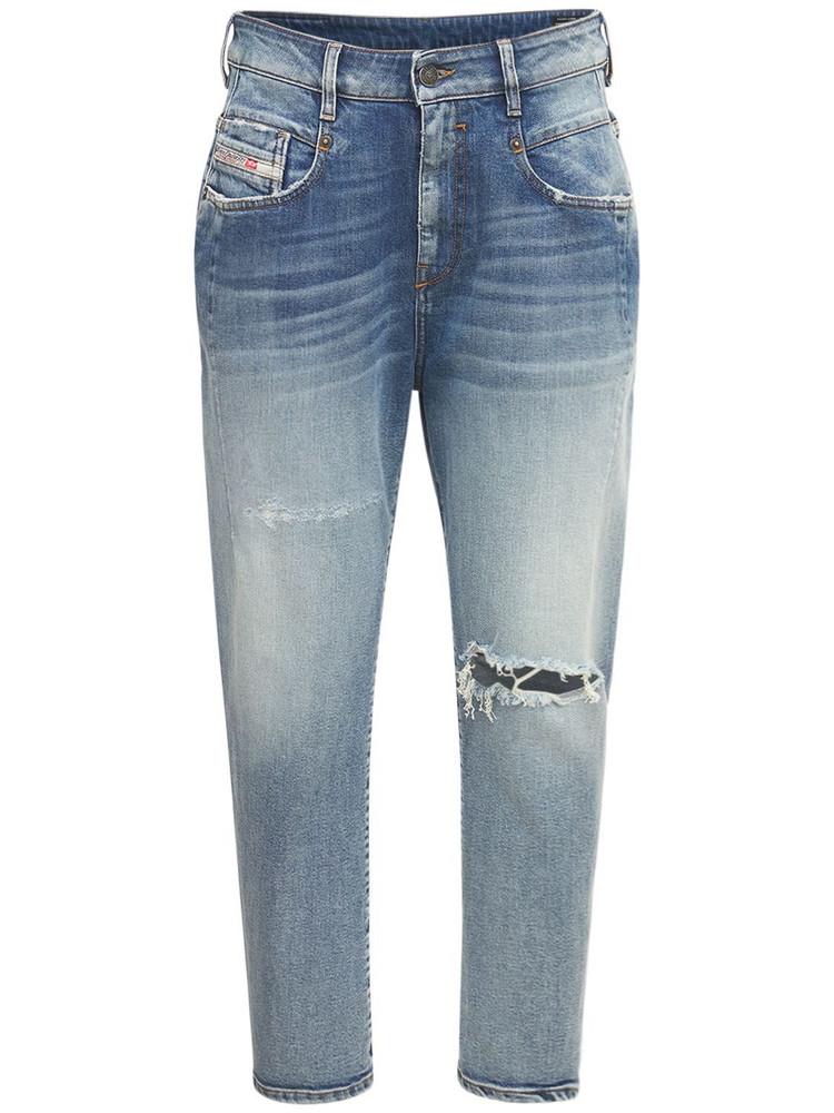 DIESEL Fayza Boyfriend Cotton Denim Jeans in blue