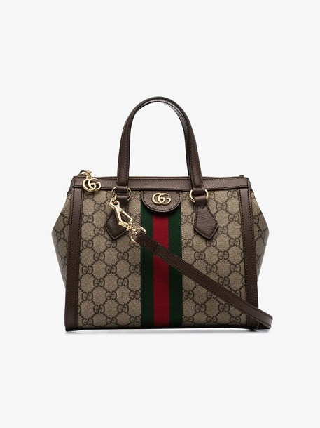Gucci Ophidia small GG tote bag in neutrals