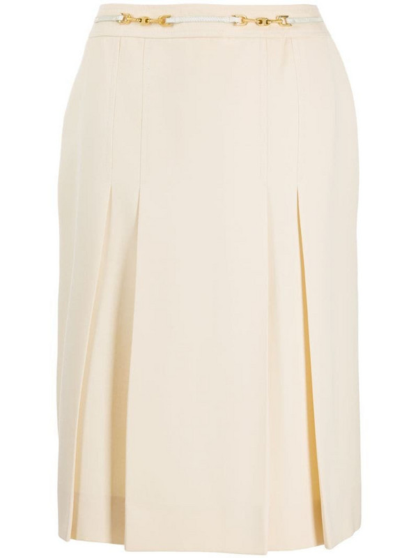Céline Pre-Owned pre-owned chain detail A-line skirt in neutrals