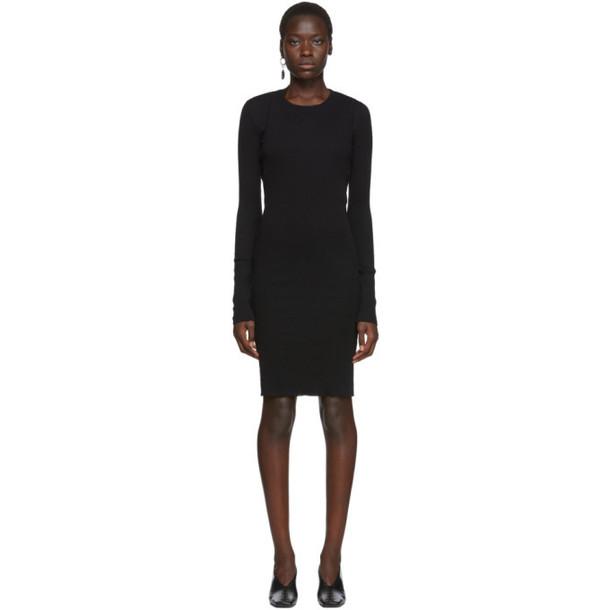 Helmut Lang Black Double Layer Dress