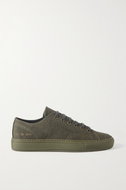 Common Projects - Achilles Canvas Sneakers - Army green