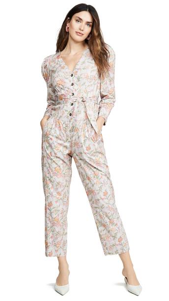 La Vie Rebecca Taylor Long Sleeve Lidia Vine Jumpsuit