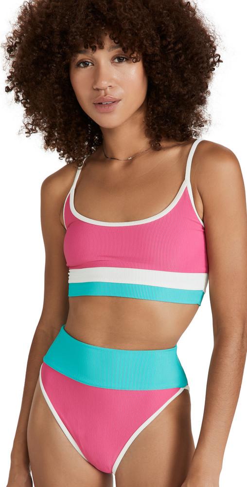 Beach Riot Eva Bikini Top in pink