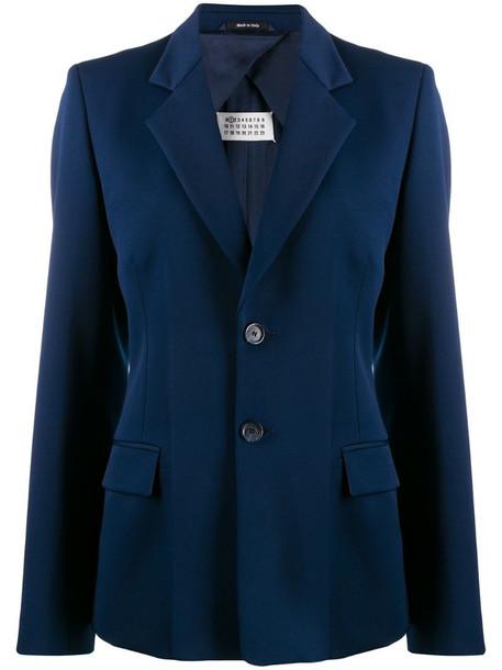 Maison Margiela fitted button blazer in blue