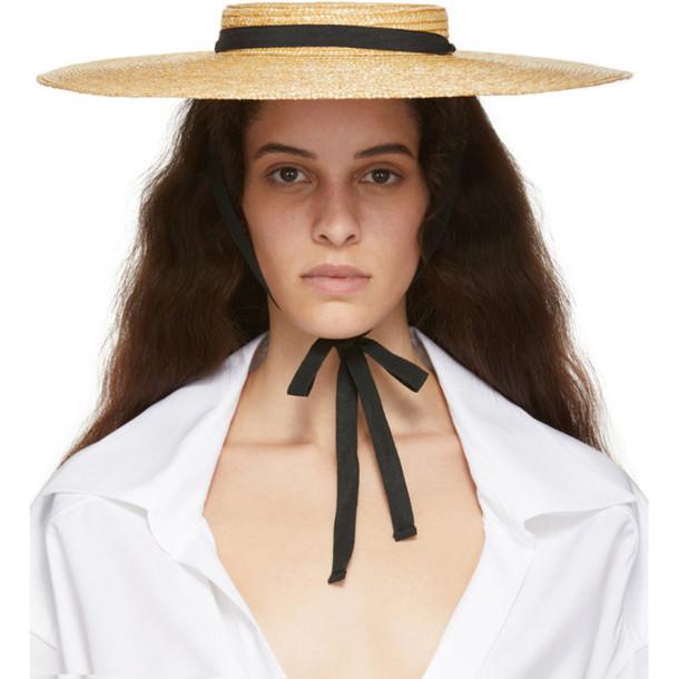 Jacquemus Beige 'Le Chapeau Santon' Beach Hat