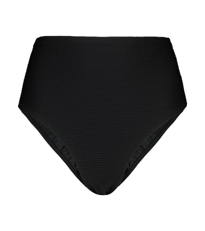 Heidi Klein Borneo high-rise bikini bottoms in black