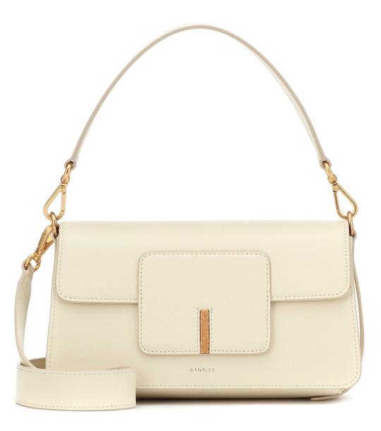 Wandler Georgia leather shoulder bag in white