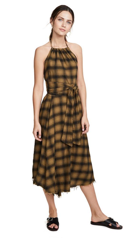 NSF Malia Tie Back Dress in copper