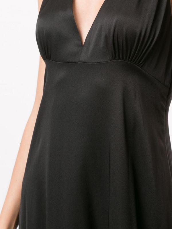 Cynthia Rowley Asher flounce gown in black